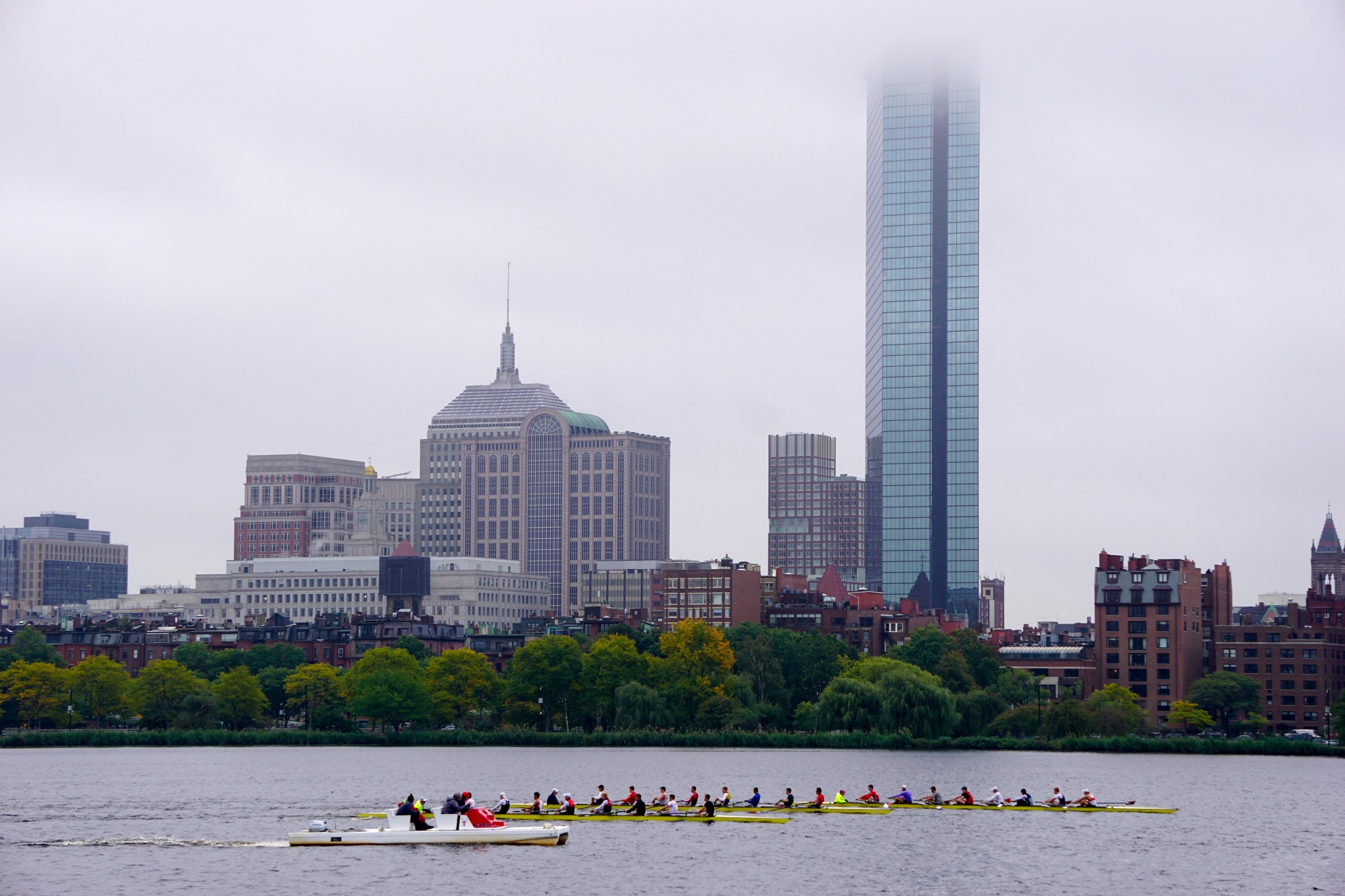 boston skyline in fog, the-alyst.com